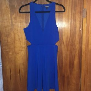 Bright blue express dress